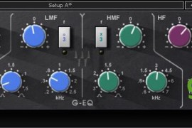 Waves SSL EQ使用视频(SSL 4000系列 G-Equalizer插件)